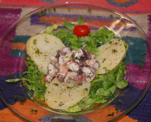Octopus Potato Salad