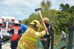 Cozumel firefighters on the scene